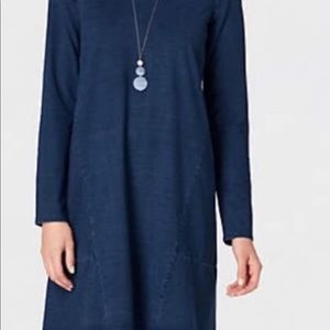 NWOT! J. Jill Purejill Comfy Indigo Dress!